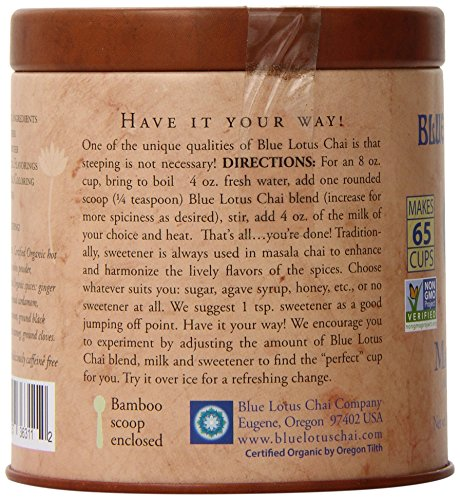 1 X Blue Lotus Rooibos Masala Chai – 2oz Tin (65 cups)
