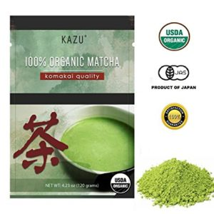"100% ORGANIC Product of Japan Green Tea Matcha, ""Komakai"" or""Drinking Quality"" (BETTER THAN Culinary Quality, NO BITTERNESS, FLOWERY AROMA, EXTRA-FINE POWDER)"
