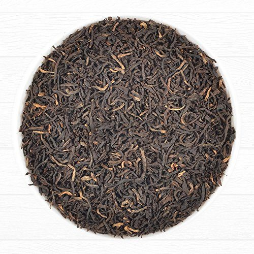 Assam Black Tea Leaves from India (225 Cups), 2016 Second Flush Season Harvest Loose Leaf Tea, World's Best Black Tea Full Leaf, Ftgfop1, Rich & Malty Loose Leaf Tea, 16 Ounce Bag