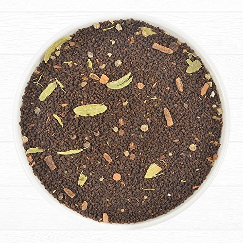 India's Original Masala Chai Tea (200+ Cups), 100% Natural Cardamom, Cinnamon, Cloves & Black Pepper blended with Black Tea, Ancient Indian House Recipe, 16-ounce Bag